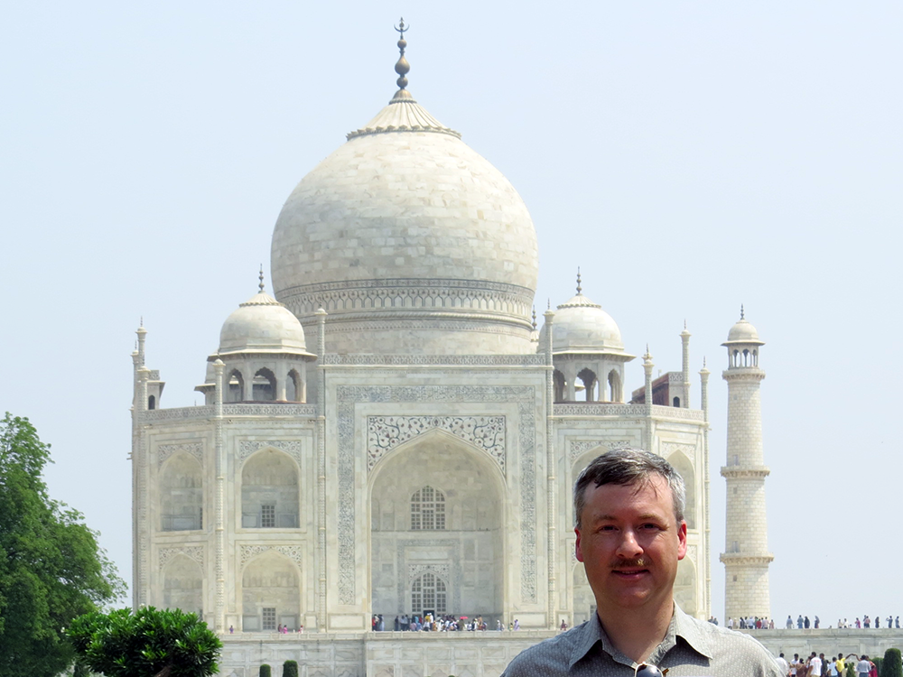 Ed at the Taj Mahal - What is that behind you?