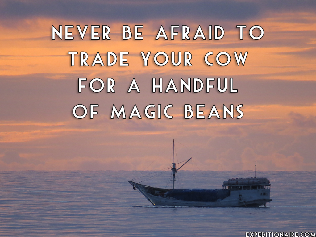 Trade your cow for a handful of magic beans